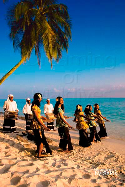Traditional music -Bodu Beru- and dances -Bandiyaa- in Maldives