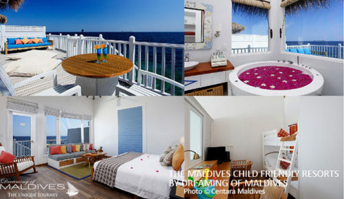 Centara Grand Island Maldives family villas child friendly resort