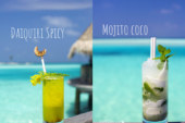 Mojito Coco or Daiquiri Spicy. Cocktail Time at Gili Lankanfushi Maldives !