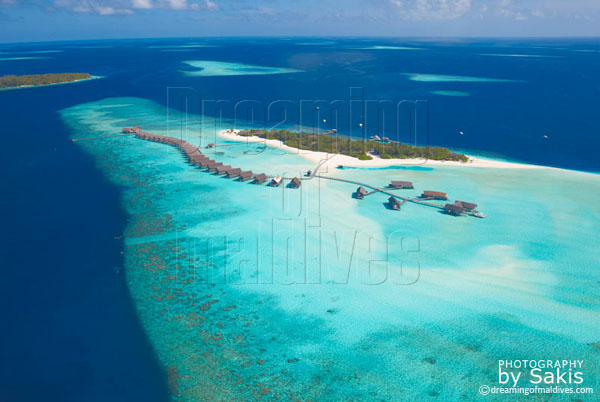 cocoa Island maldives aerial view photo gallery