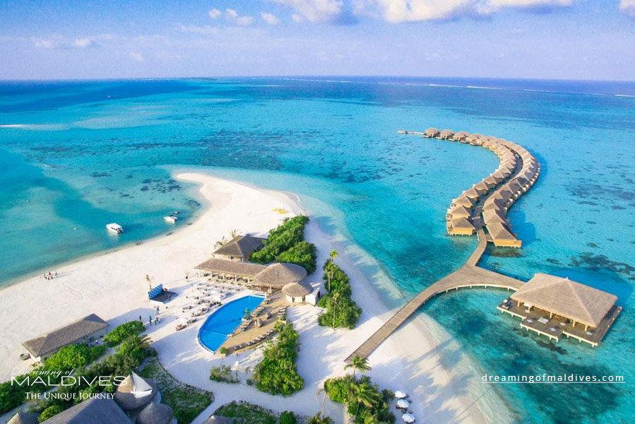 Cocoon Maldives Resort Aerial Photo
