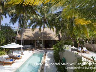 Conrad Maldives Rangali Island - Exterior View of the Beach Suites private gardens and pools
