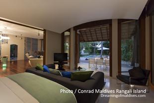 Beach Suites at Conrad Maldives Rangali - One of the bedroom