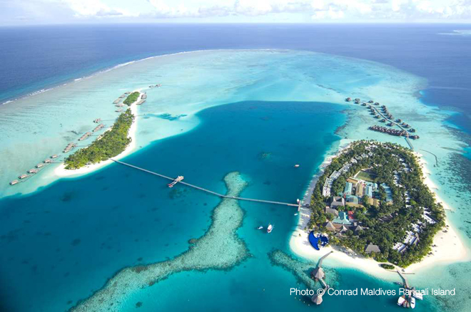 Maldives top 10 Resorts 2013 Conrad Rangali