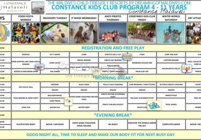 Constance Halaveli Kids Club Program