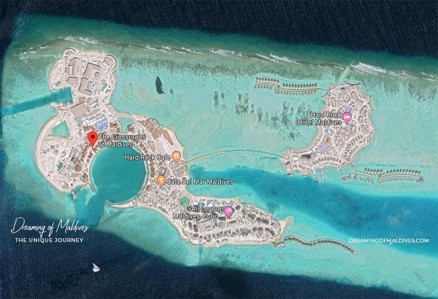 Crossroads Maldives Aerial Map
