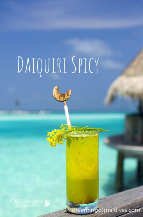 Cocktail Daiquiri Spicy at Gili Lankanfushi Maldives