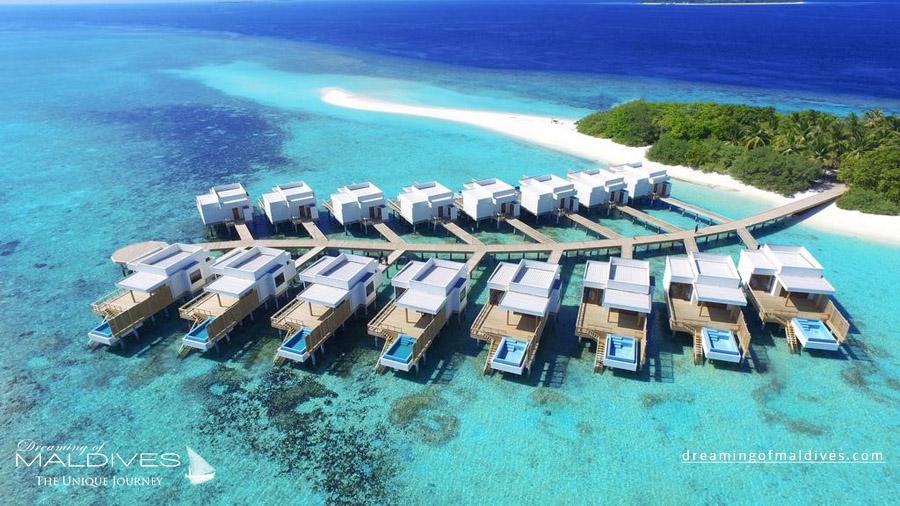 Dhigali Maldives Resort Aerial Photo