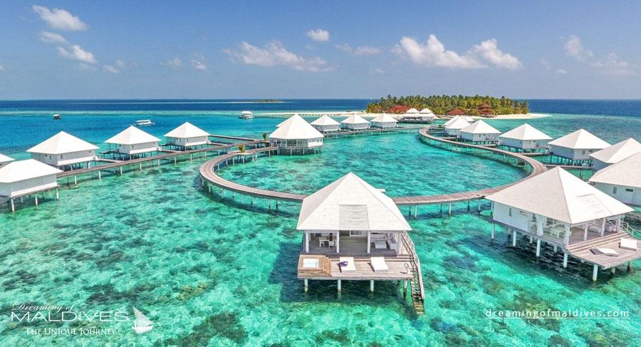 Diamond Athuruga Maldives Resort Aerial Photo