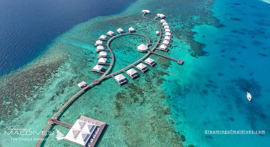 Diamond Thudufushi Maldives Resort Aerial Photo