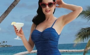 Dita Von Teese chose Maldives at Conrad Maldives Rangali Island for her holidays