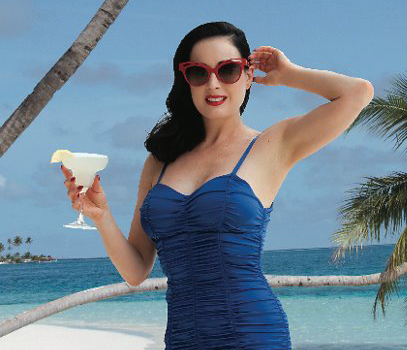 Dita Von teese in Maldives at Conrad Maldives