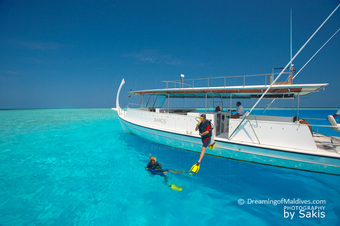 Diving at Baros Maldives. North Male Atoll