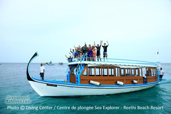 Coming back from a Snorkeling trip - Reethi Beach Resort Maldives Baa Atoll