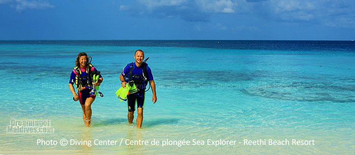 Free Diving initiation with Diving Centre Sea Explorer at Reethi Beach Resort Maldives Baa Atoll