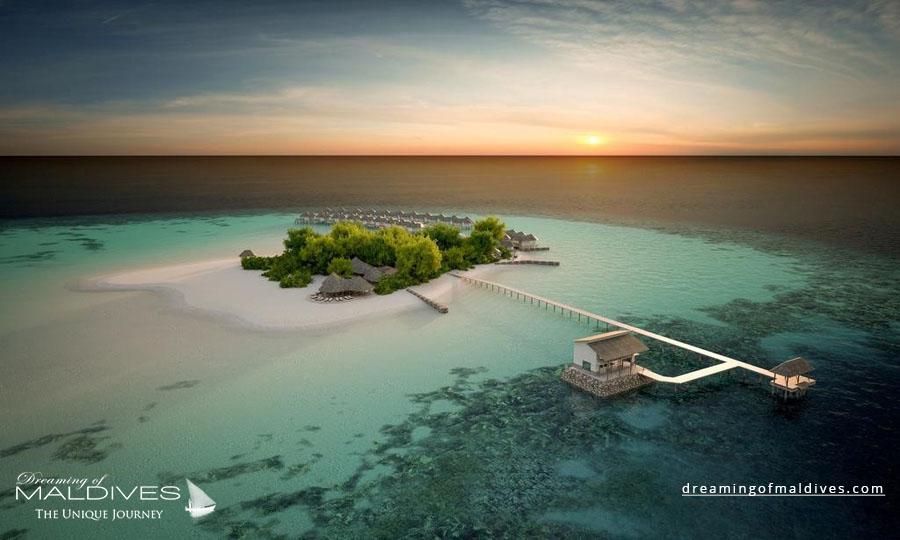 Drift Thelu Veliga Maldives Resort Aerial Photo