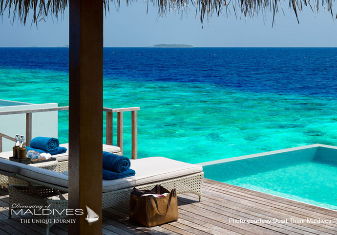 Dusit Thani Maldives Best Resort for snorkeling in Maldives.villa
