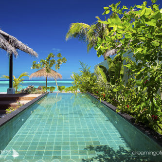 View From the Pool in a Earth Villa With Pool OZEN at Maadhoo.