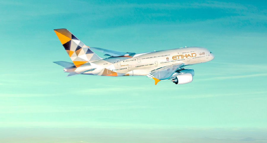 Etihad Airways A380-800 Aircraft to be landed in Maldives Velana Airport piloted by a Maldivian
