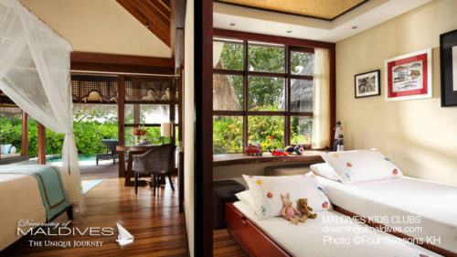 Maldives Family Hotel Four Seasons Kuda Huraa Family Villa Kids Room