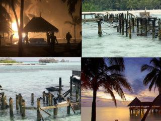 Gili Lankanfushi Maldives fire