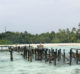 What is left from the Villas and jetty afer the fire. Gili Lankanfushi.