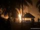 Flames burning the resort gili lankanfushi.