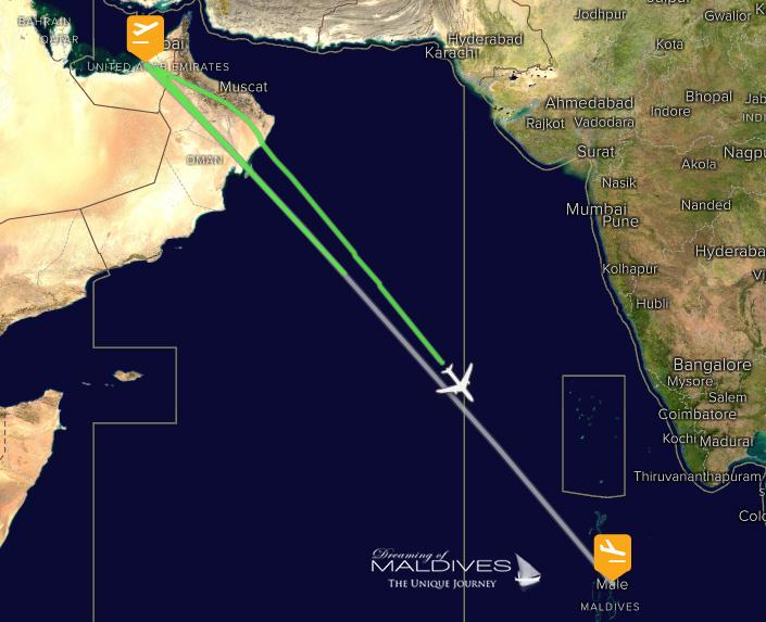 Etihad Airways 278 Flight Tracker