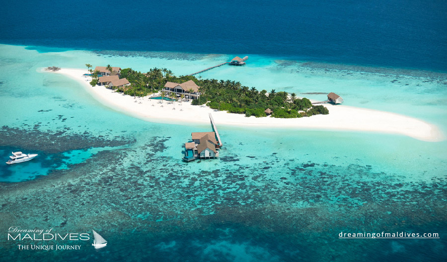 Four Seasons Private Island Voavah Maldives Resort Aerial Photo
