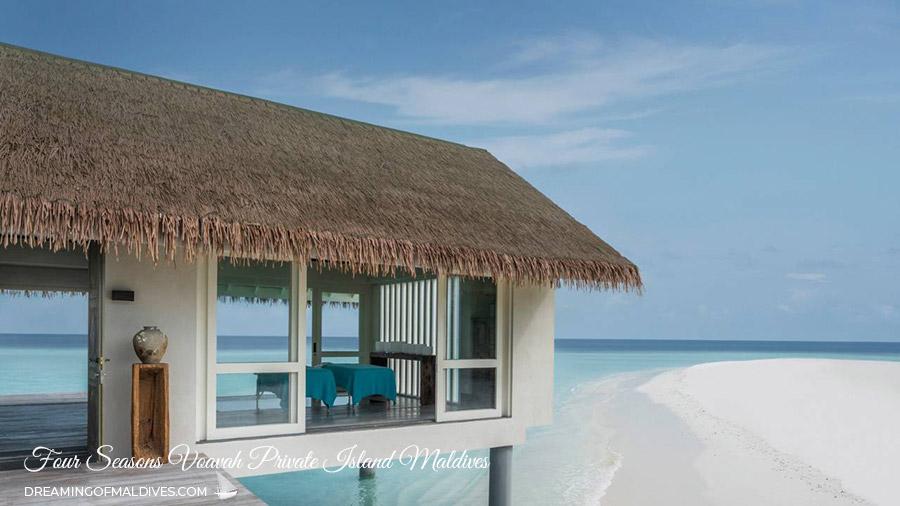 A Super Private Island in Maldives Four Seasons Voavah. The Spa