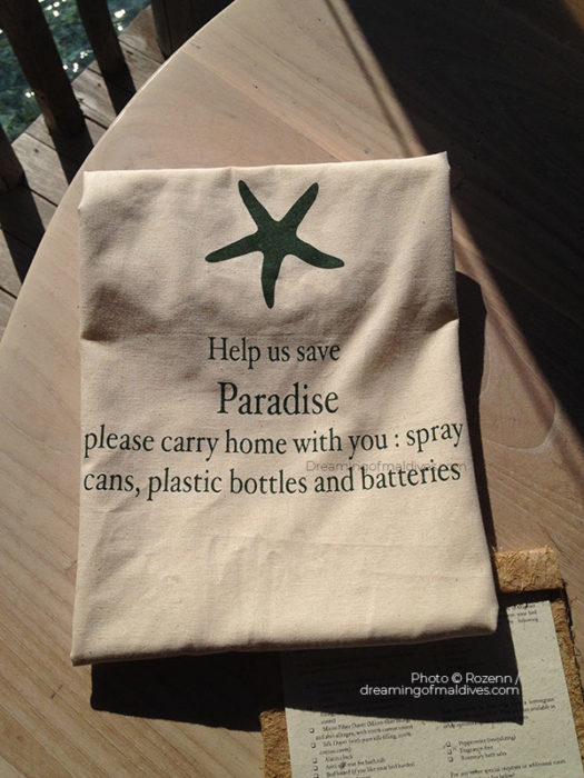 Help us Save Paradise. Bring back home your waste !