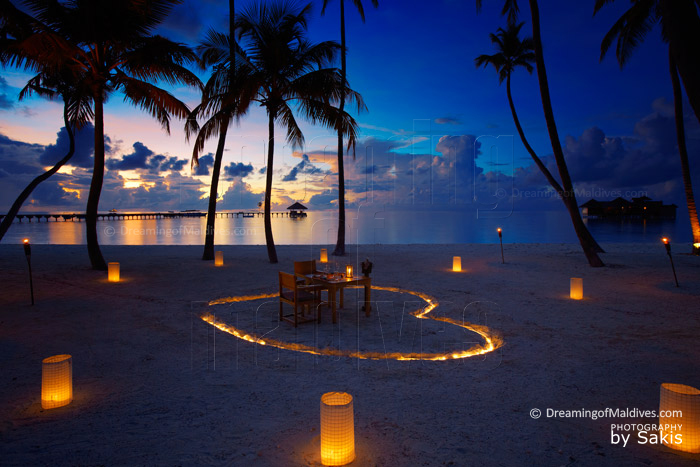Dreamy Dinner at Gili Lankanfushi . Maldives Photo of The Day