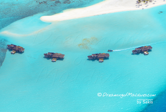Gili Lankanfushi Maldives Photo of The Crusoe Residences from the air