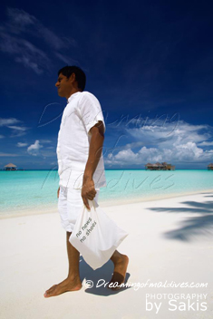 Gili Lankanfushi Maldives The No News No Shoes Bags where you put your shoes at arrival