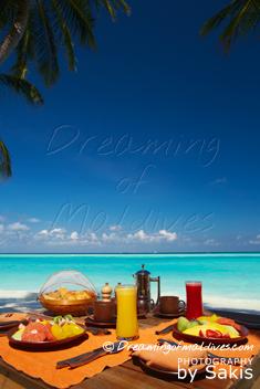 Gili Lankanfushi Maldives - Breakfast on the beach, detail