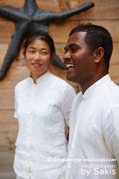 Gili Lankanfushi - Smily Mr & Mrs Friday