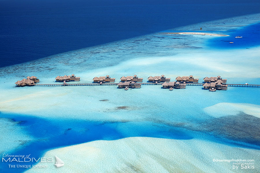Aerial View of The Residences at Gili Lanfushi Maldives