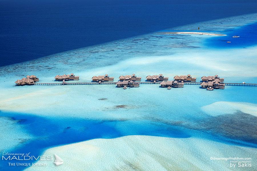 Aerial View of The Residences at Gili Lanfushi Maldives