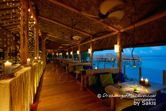 Gili Lankanfushi Maldives - Japanese Restaurant By-The-Sea at Sunset