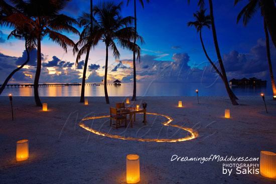 Gili Lankanfushi Maldives Very Romantic Dinner on the beach