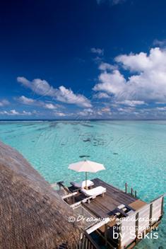 Gili Lankanfushi Maldives Water Villa, The Residence Sun Deck from the upper floor