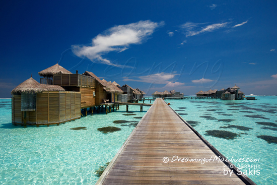 Gili Lankanfushi - The Villas Suites and in the far end, the Residences