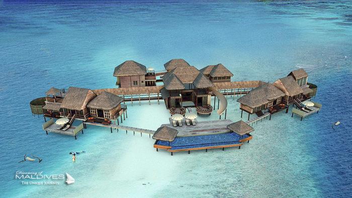 New Pool at The Private Reserve, Gili Lankanfushi Maldives. Artist Impression