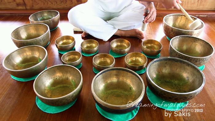 Tibetan Singing Bowls at the Spa - Gili Lankanfushi Maldives