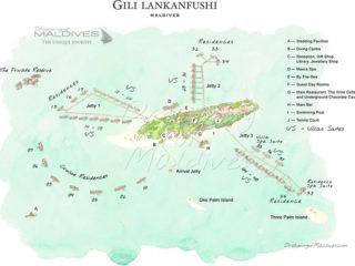 Gili Lankanfushi Maldives Resort Map