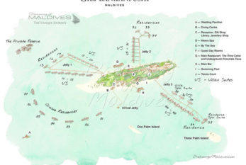 Gili Lankanfushi Maldives Resort Maps
