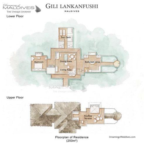 Gili Lankanfushi Maldives Residence Floorplan