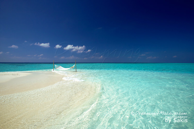 Photo of the Day : a Hammock on a Maldives Sandbank