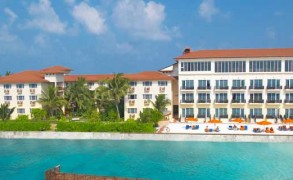 "Hulhule Island Hotel, Maldives was declared the winner of ""Maldives Leading Hotel"" at the World Travel Awards 2009"