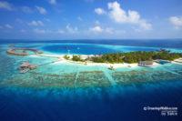 Huvafen Fushi Maldives aerial view